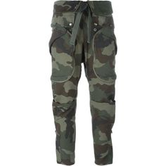 Faith Connexion Camouflage Cargo Trousers (£635) ❤ liked on Polyvore featuring pants, bottoms, jeans, legs, green, cotton cargo pants, green camo pants, cargo pants, camo print pants and camo pants