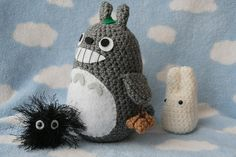 Totoro crochet pattern.  This was my favorite cartoon as a kid in the very early 90s