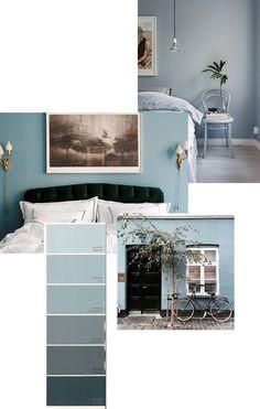 Blue Grey Wallm Colour - via Fanny Ekstrand