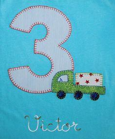 cocodrilova: camiseta de cumpleaños 3 años #camisetacumpleaños #cumpleaños #3años #hechoamano camiseta-cumpleaños-3años