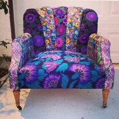 cotton quilting fabrics on a chair