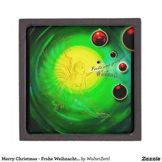 Merry Christmas - Frohe Weihnachten - Christmas, Premium Jewelry Box