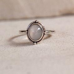 Eenvoudige Maansteen Ring Sieraden Bohemian door DonBiuSilver