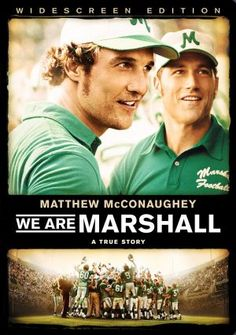 We Are Marshall (Widescreen) on DVD from Warner Bros. Staring Matthew McConaughey, Brian Geraghty, Matthew Fox and Kate Mara. More Drama, Based-On-A-True-Story and Sports DVDs available @ DVD Empire. Wes Brown, Movies And Series, Movies And Tv Shows, Tv Series, See Movie, Movie Tv, Movie List, Marshall Movie, Football Movies
