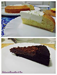 "Bolo de Baunilha com Recheio de Mousse de Limão e Bolo de Chocolate com Recheio de Brigadeiro – Vanilla Cake with Lemon Mousse and Chocolate Cake with ""Brigadeiro"""