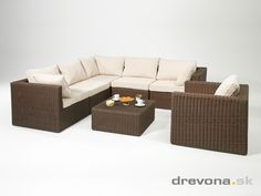 Exterior Design - Seat set Outdoor Sectional, Sectional Sofa, Outdoor Furniture, Outdoor Decor, Exterior Design, Houses, Interiors, Home Decor, Homes