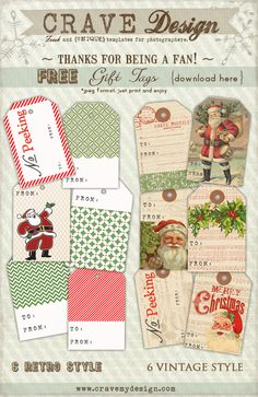 Download for free Cravemydesign Holiday Gift Tags