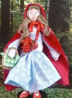 Little Red Riding Hood Doll Storybook Art by UneekDollDesigns, $41.00