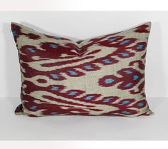 20x14 lumbar ikat pillow cover lumbar ikat pillow long by SilkWay