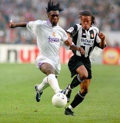 20 de mayo de 1998. Amsterdam Arena. Final de la Liga de Campeones. Real Madrid, 1 - Juventus, 0. Clarence Seedorf (Real Madrid) y Edgar Davids (Juventus Turin):