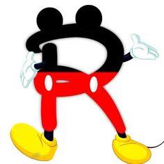 Original alfabeto inspirado en Mickey Mouse. | Oh my Alfabetos!