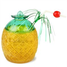 Pineapple Glass 20.8oz / 590ml | Plastic Cocktail Glasses Party Glassware - Buy at drinkstuff