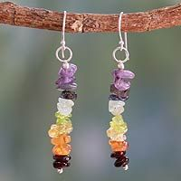 Peridot and carnelian cluster earrings, 'Color Mantra' from @NOVICA, They help #artisans succeed worldwide.