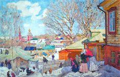 Konstantin Yuon Spring Sunny Day 1910