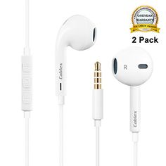 Cablex Premium Earphones/Headphones/Earbuds with Stereo Mic&Remote Control for Apple iPhone 6s/6/6plus,iPhone SE/5s/5c/5, iPad /iPod and More - White(Pack of 2) - http://our-shopping-store.com/cellphones-and-accessories-products.asp