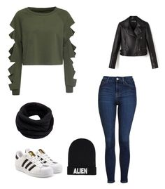 """""""Untitled #207"""" by rekac on Polyvore featuring WithChic, Topshop, adidas Originals, Nicopanda and Helmut Lang"""