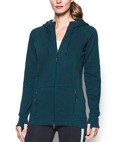Nova Teal Varsity Fleece Zip-Up Hoodie #zulily #zulilyfinds