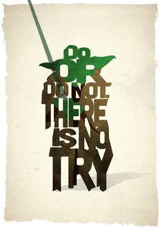 Yoda typography print