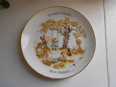 Holly Hobbie decorative plate 1970s To have by violetrosesvintage, $15.00