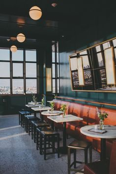 The Wythe Hotel's Rooftop bar offers city views and specialty cocktails.