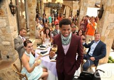 "90210 -- ""The Sea Change"" -- Image: NO502b_0125 -- Pictured (Clockwise from Center): Tristan Wilds as Dixon, Jessica Lowndes as Adrianna, Trai Byers as Alec, Arielle Kebbel as Vanessa, Shenae Grimes as Annie, Matt Lanter as Liam, and Jessica Stroup as Silver, and Trevor Donovan as Teddy -- Photo: Scott Humbert/The CW -- ©2012 The CW Network. All Rights Reserved."