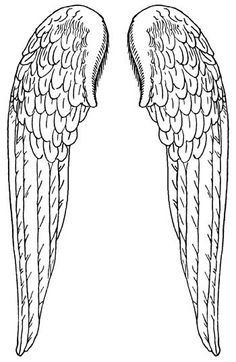 Large Angel Wings :: Angel Wings - Image to my tattoo and get the show on the road Colouring Pages, Coloring Books, Vintage Illustration, Bordados E Cia, Angel Crafts, Angels Among Us, Digi Stamps, Line Drawing, Ikon