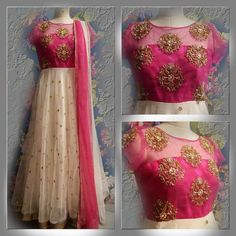 Elegant Fashion Wear Explore the trendy fashion wear by different stores from India Red Lehenga, Anarkali Dress, Lehenga Choli, Sarees, Pink Saree, Anarkali Suits, Frock Fashion, Fashion Dresses, Dress Outfits
