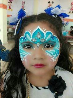 Elsa Face Painting, Face Painting Tips, Face Painting For Boys, Princess Painting, Face Painting Designs, Body Painting, Frozen Face Paint, Mermaid Face Paint, Animal Face Paintings