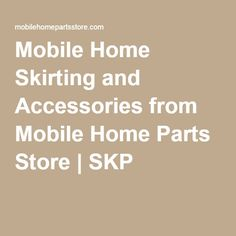 1000+ images about Mobile Home Skirting on Pinterest ...