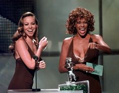 Mariah Carey (l.) and Whitney Houston teamed up for the 1998 hit 'When You Believe.'