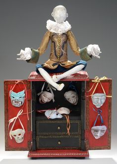 Art Dolls and Figures, Shadowboxes and Figurative Art Collectibles Beautiful Fantasy Art, Beautiful Dolls, Toy Theatre, Marionette, Art Costume, Identity Art, Paperclay, Art Plastique, Animation
