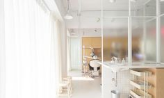 Belgian architect Germain Canon and industrial designer Li Mengshu designed LeXin, a Taiwanese dental clinic that helps calm patient fears.