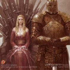 Cersei and the mountain by XiaTaptara