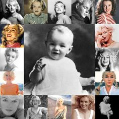 Norma Jeane/Marilyn Monroe throughout the years of her life.