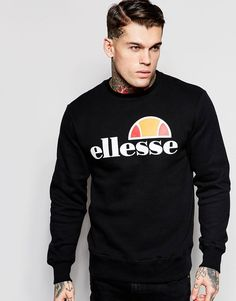 Mega fede Ellesse Sweatshirt With Classic Logo - Black ELLESSE Sweatere til Herrer til enhver anledning