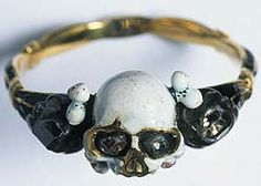 a mourning ring, worn to remember the Plague dead. Image courtesy of the Museum of London.