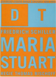 Maria Stuart by Friedrich Schiller' - Dieter Feseke, Theatre Poster (Germany 2002-3)