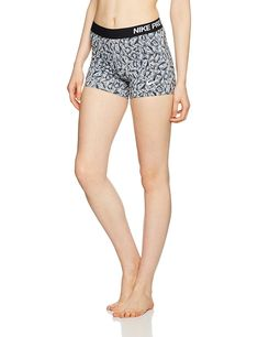 Gifts for Cyclists - Nike Women's Pro 3-Inch Cool Facet Shorts - Grey/Black/White, Medium ** Click image for more details. (This is an affiliate link) #GiftsforCyclists