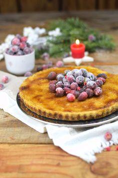 Zimt Brûlée Tarte mit Honig und gezuckerten Cranberries - Cinnamon Brulee Honey Tart with cranberries | Das Knusperstübchen