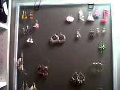 DIY: Earring Rack ♡ Theeasydiy #Organization (+playlist)