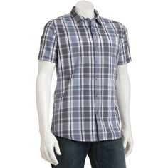 Marc Anthony Slim-Fit Yarn-Dyed Dobby Plaid Spread-Collar Casual Button-Down Shirt - Men - product - Product Review