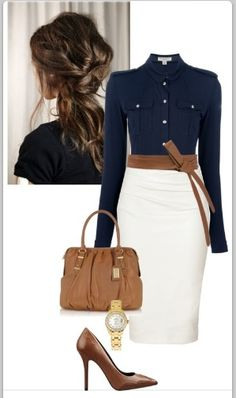 Love the look - just not sure about white as a skirt color - it's cute just bound to get dirty quickly.