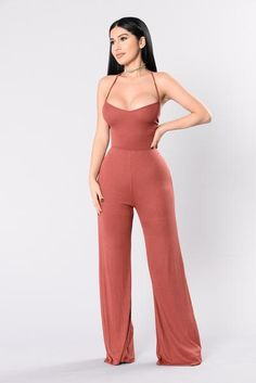 Wide Ride Jumpsuit - Marsala | Fashion Nova