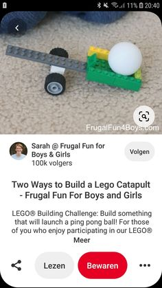 Catapult, Build Something, Frugal, Boy Or Girl, Lego, Challenges, Product Launch, Fun, Fin Fun