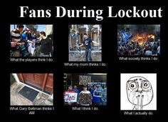NHL fans during the lockout