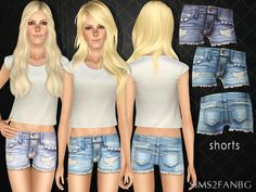 Denim shorts by sims2fanbg - Sims 3 Downloads CC Caboodle