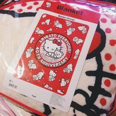"268 Likes, 8 Comments - Kawaii Corner (@kawaiicorner) on Instagram: ""ARIGATO EVERYONE! Hello Kitty's 40th Anniversary blanket. 🐱❤️❤️#⃣ #hellokitty #kawaii #blanket…"""