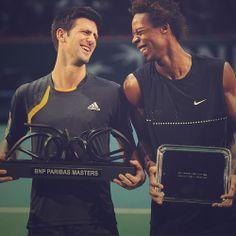 Novak Djokovic and Gael Monfils Paris