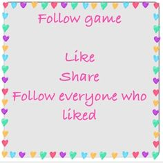 FOLLOW GAME Help me reach 10k followers!! Like this picture, share it with your followers, follow me and the chain keeps going! Tag friends so everyone gets more followers!! Thx  Other