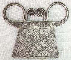 Soul Lock Pendant Antique Hmong Silver 21g Late 19th - Early 20th Century Laos ETJ145